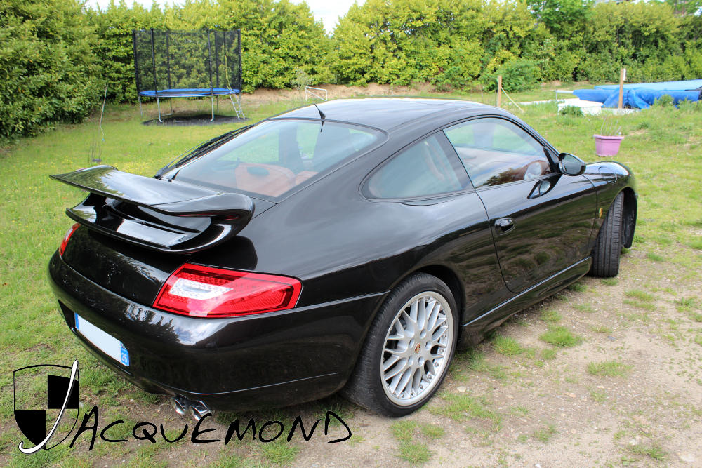 Jacquemond : Porsche 996 GT3 MK1 Evocation aileron arrière, bas de caisse